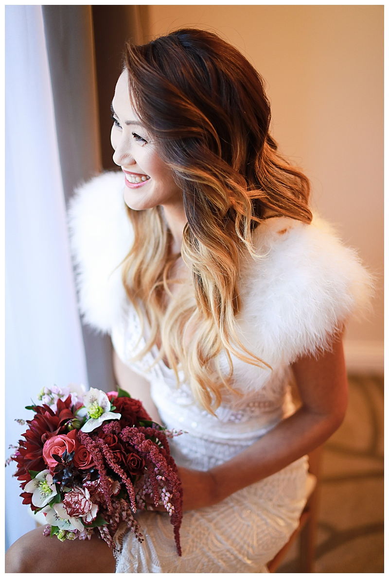 Made With Love Bridal Dress with Fur Shrug