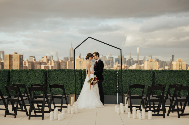 Image for Edgy Brooklyn Wedding Inspiration with Geometric Details