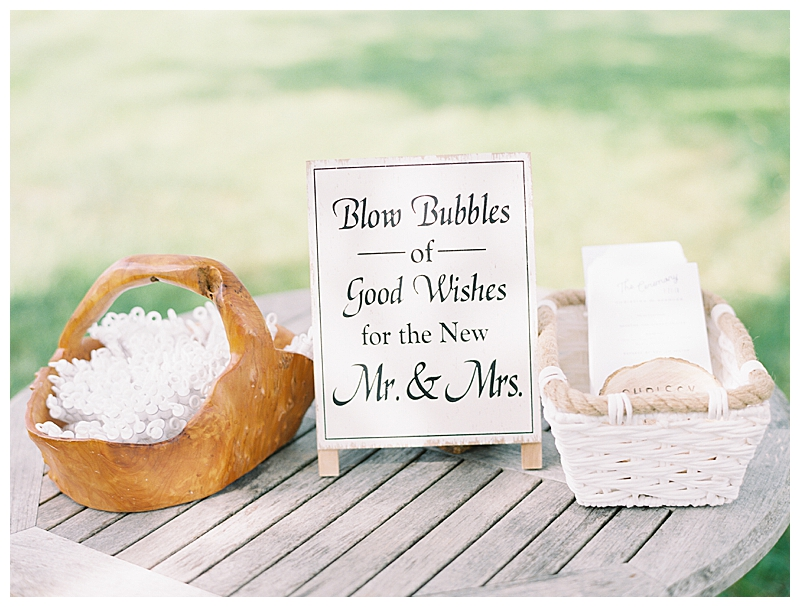 Bubble Station for Wedding Ceremony