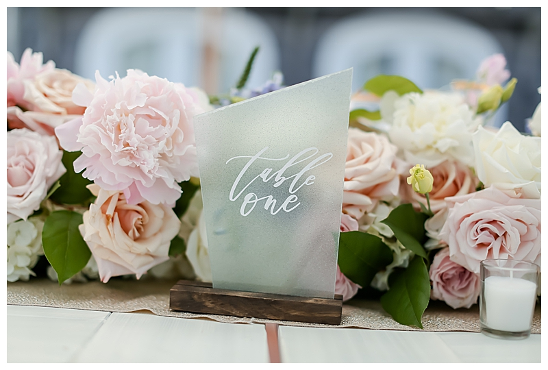 Cape Cod Wedding Table Numbers