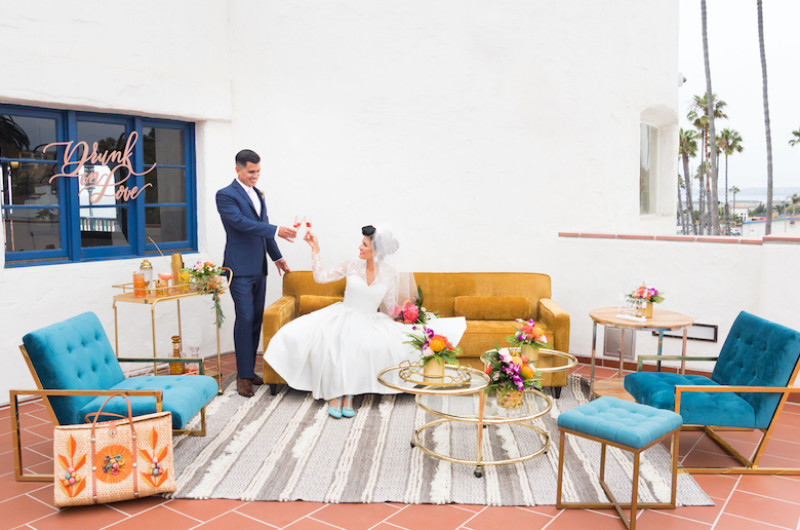 Image for Mid-Century Modern Wedding Inspiration With Tropical Retro Vibes