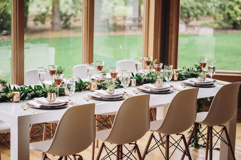 Image for Oregon Wedding Inspiration with Mixed Metals and Modern Vibes