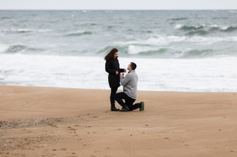Image for Romantic Beach Proposal With a Surprise Engagement Party