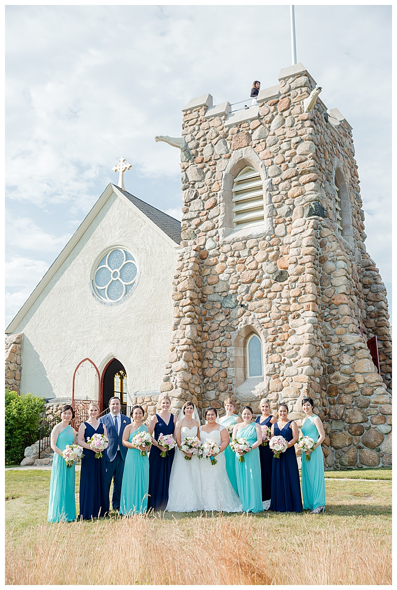 Navy and Teal Bridesmaids