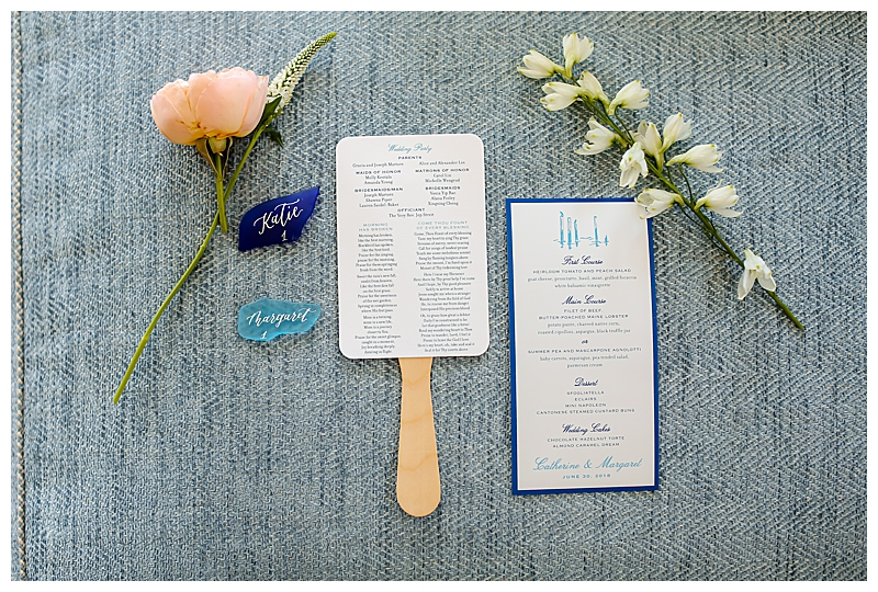 Navy and Teal Wedding Stationery