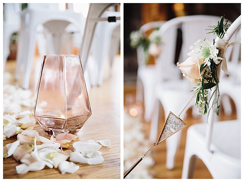 Pale Pink and Crystal Ceremony Details