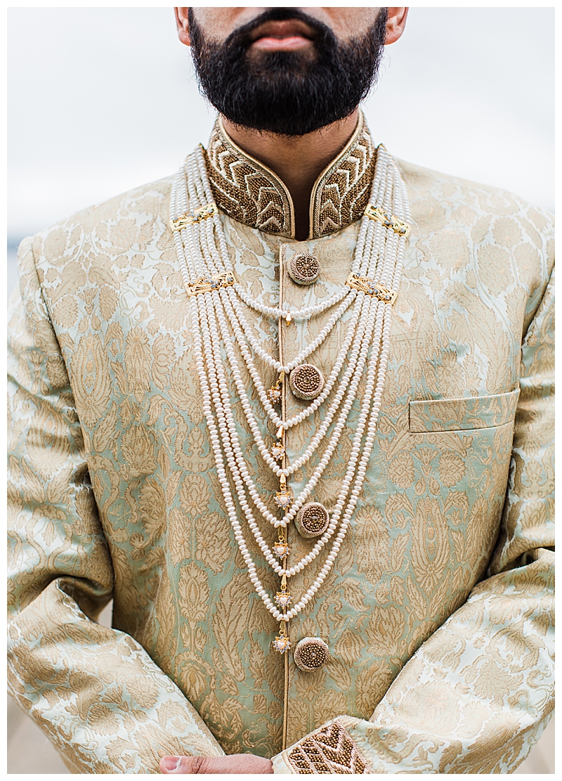 Sherwani with Blue Embroidery