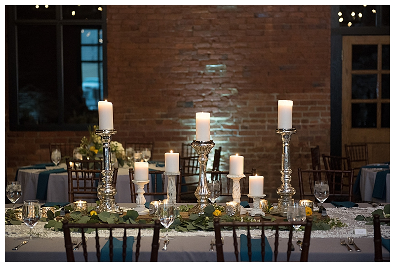 Silver Candlesticks Wedding Tablescape