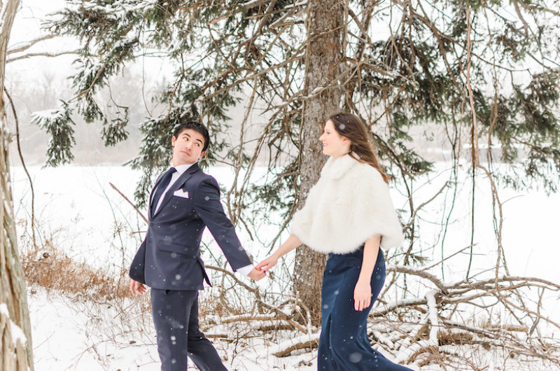 Image for A Romantic Formal Engagement Shoot in the Snow
