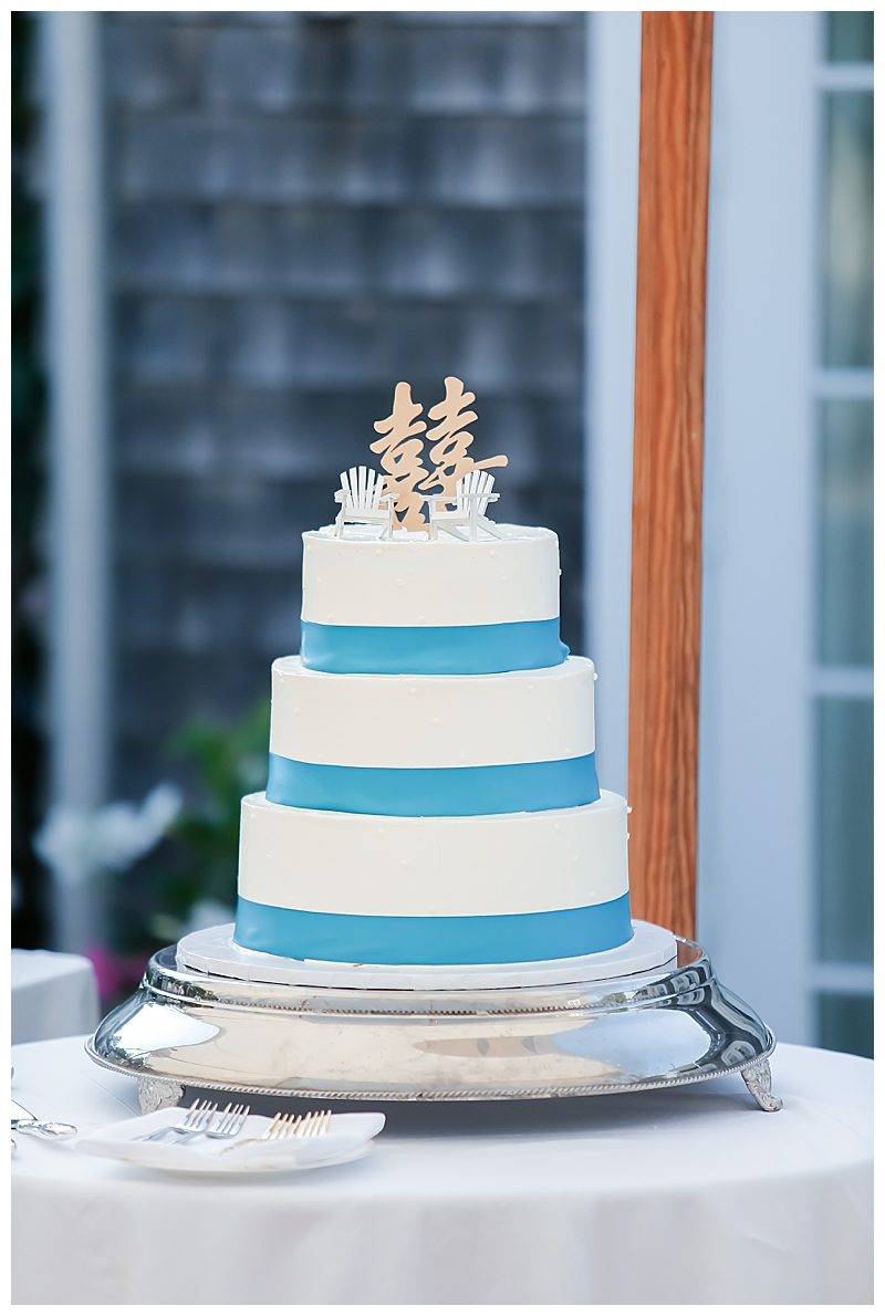 Wedding Cake with Adirondack Chair Topper