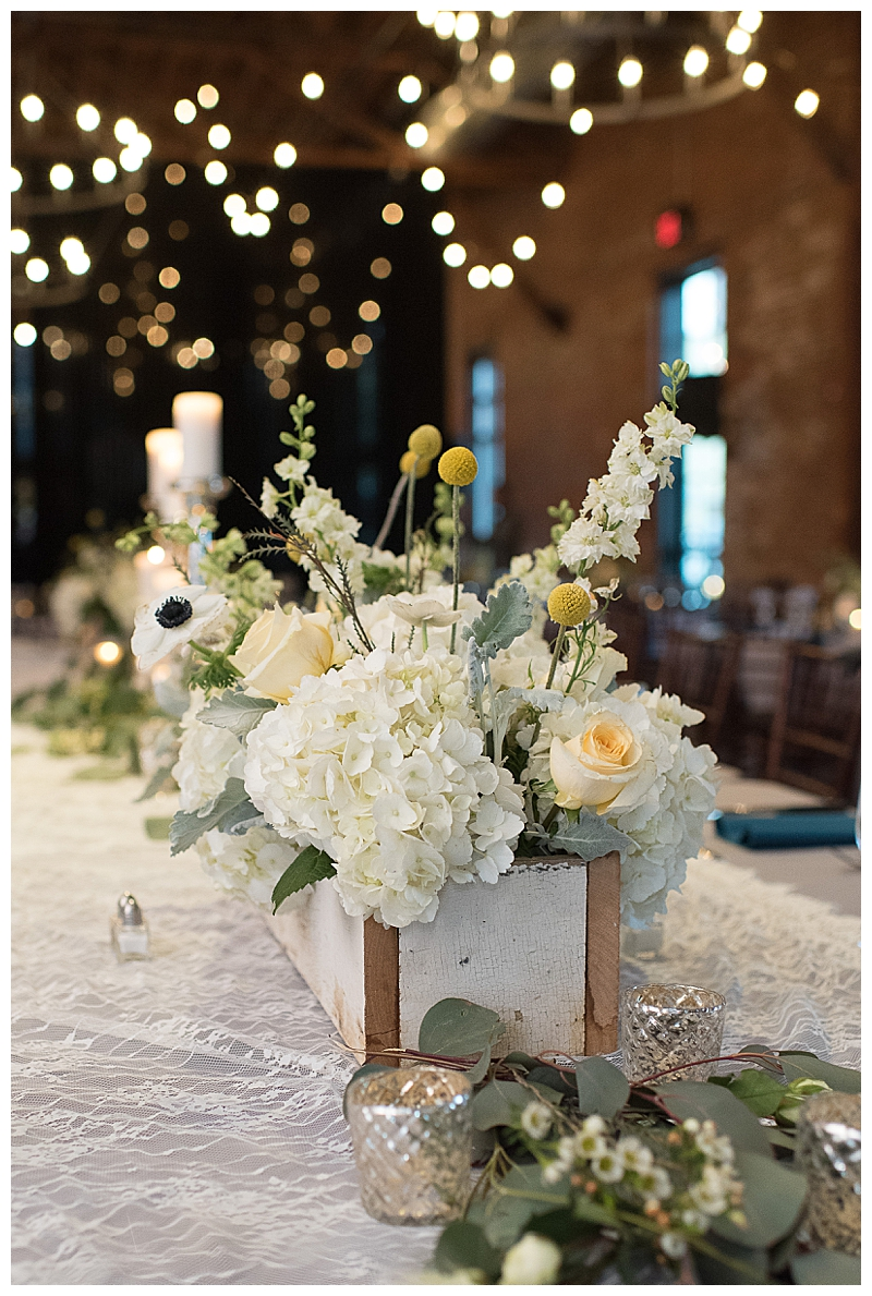White Hydrangeas Rustic Wedding Centerpiece