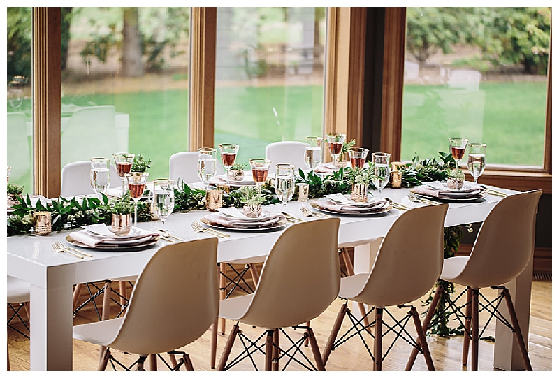 White Tabletop with Greenery