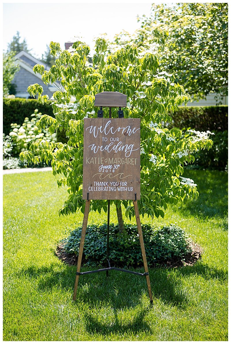 Wooden Wedding Sign Cape Cod