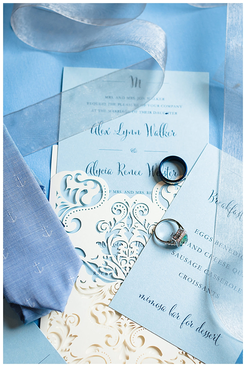 Blue and White Traditional Wedding Stationery