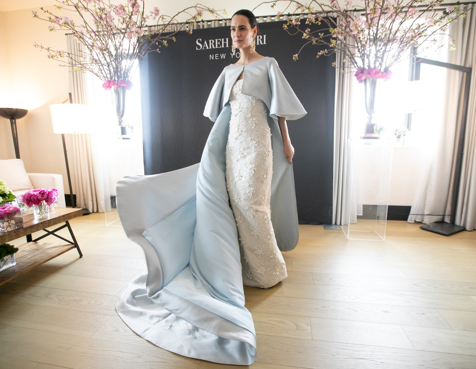 Cape Wedding Dress Trend Sareh Nouri