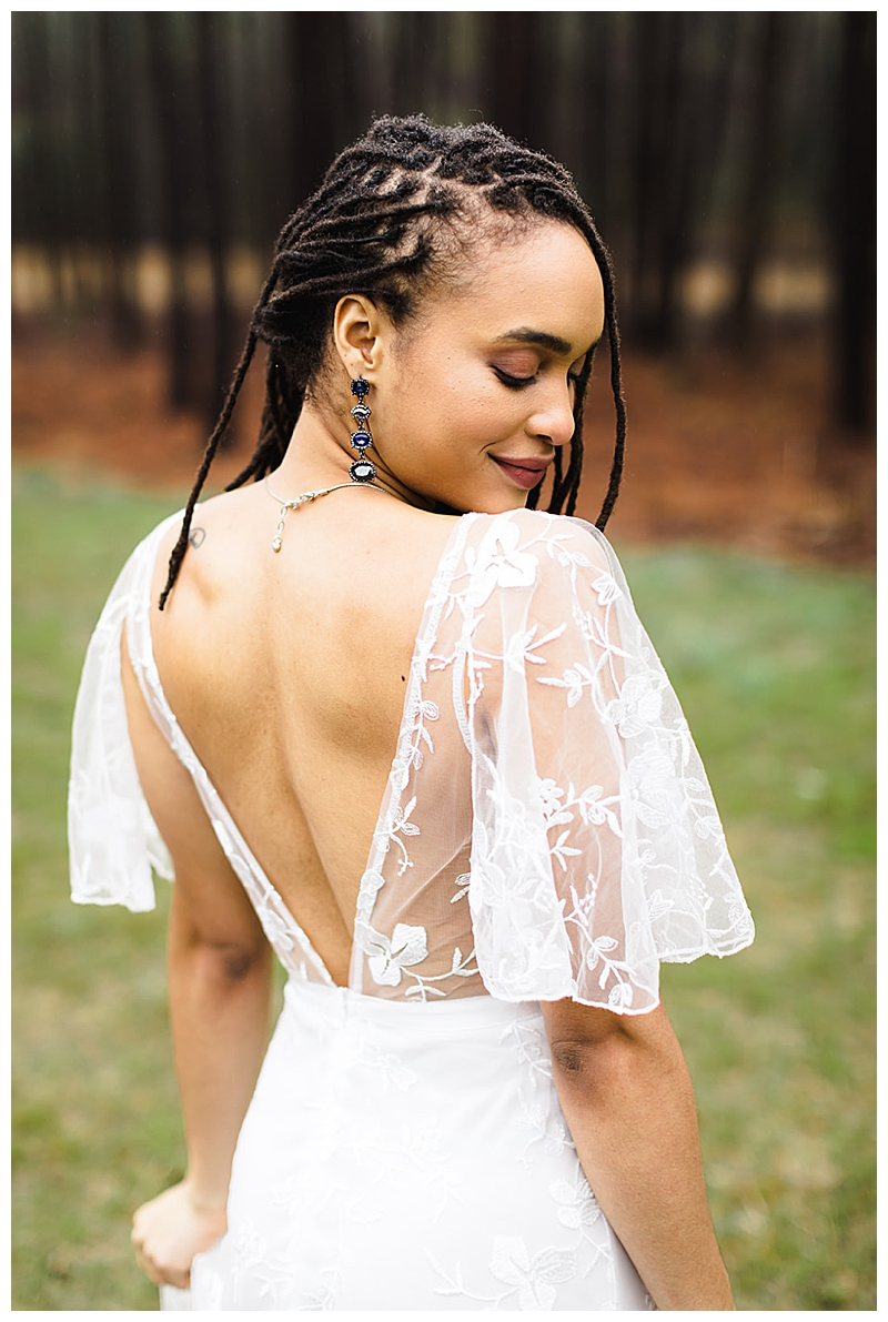 Deep Back Wedding Dress