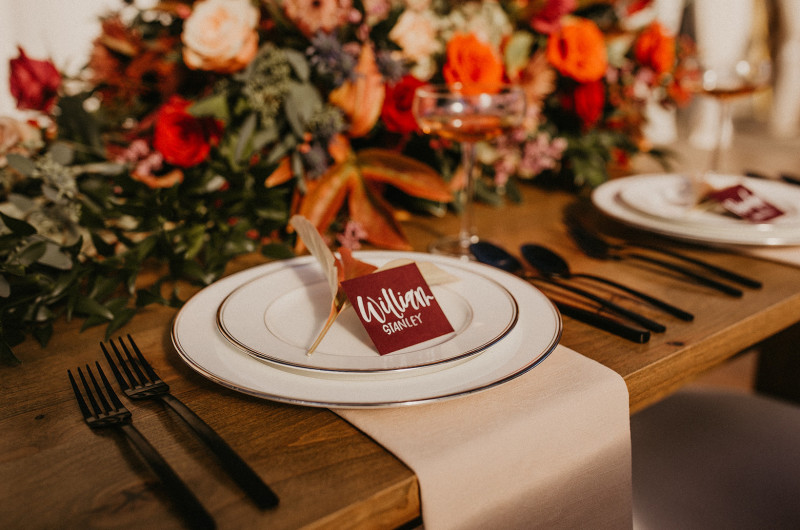 Image for Earthy and Beautiful Fall Wedding Inspiration for Autumn Soonlyweds