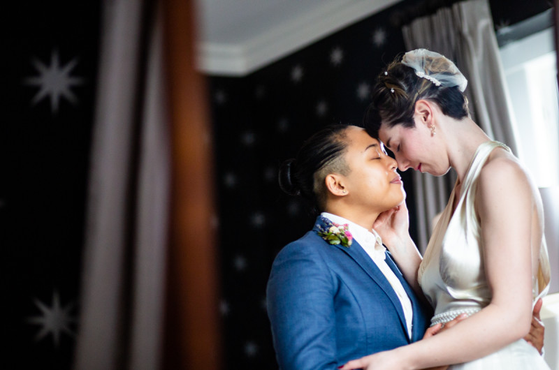 Image for Cozy Winter Inn Wedding That Celebrated a Strong Female Community
