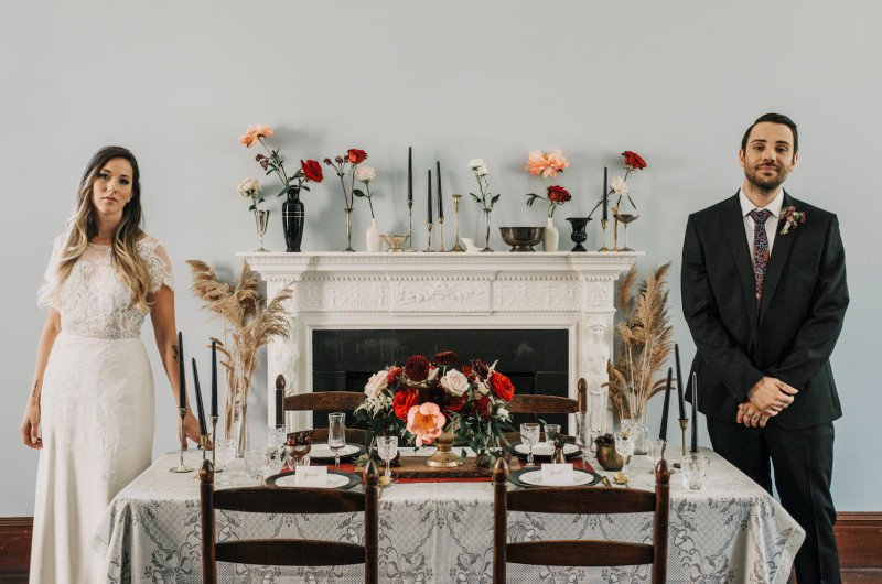 Image for Moody Museum Wedding Inspiration with Vintage Details
