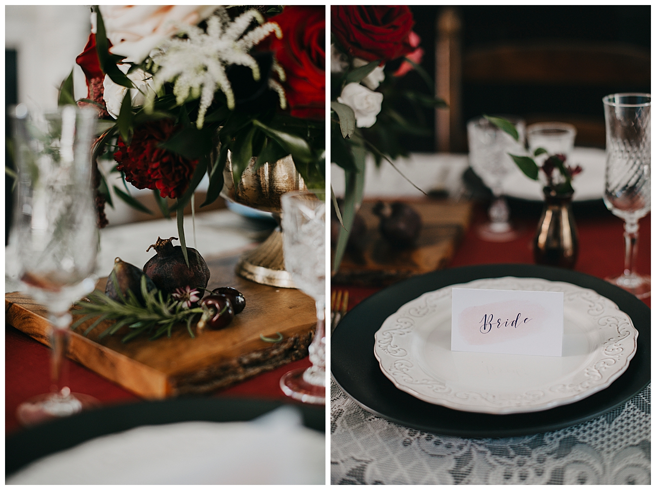 Moody Vintage Wedding Tablescape