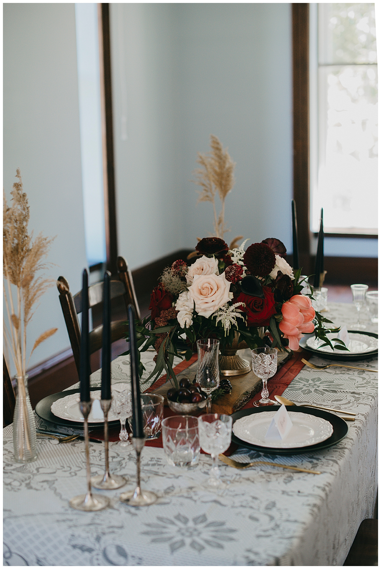 Moody Vintage Wedding Tabletop