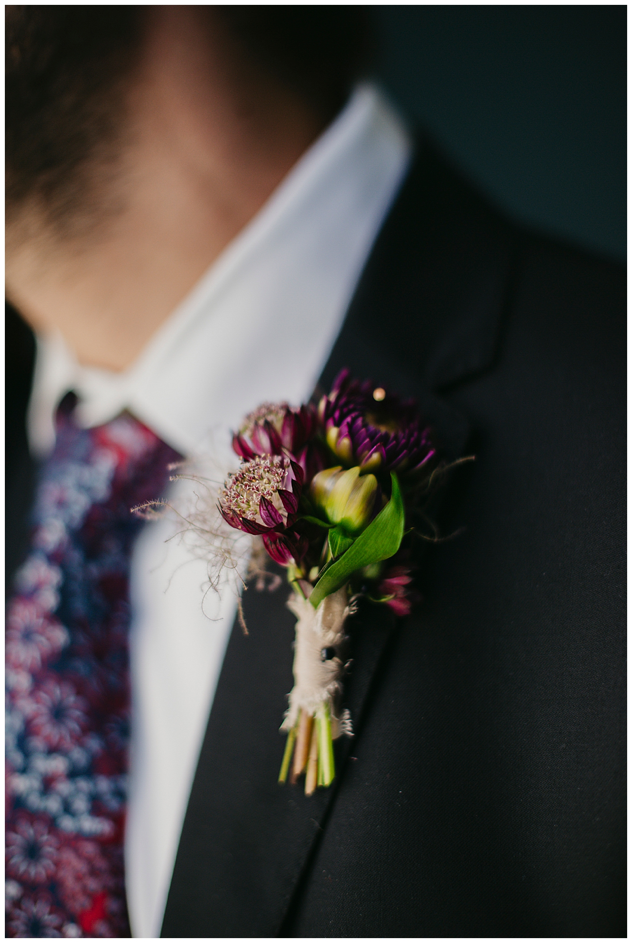 Purple Boutonniere