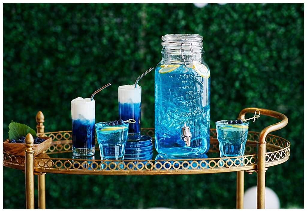 Blue Cocktails for Mothers' Day Brunch