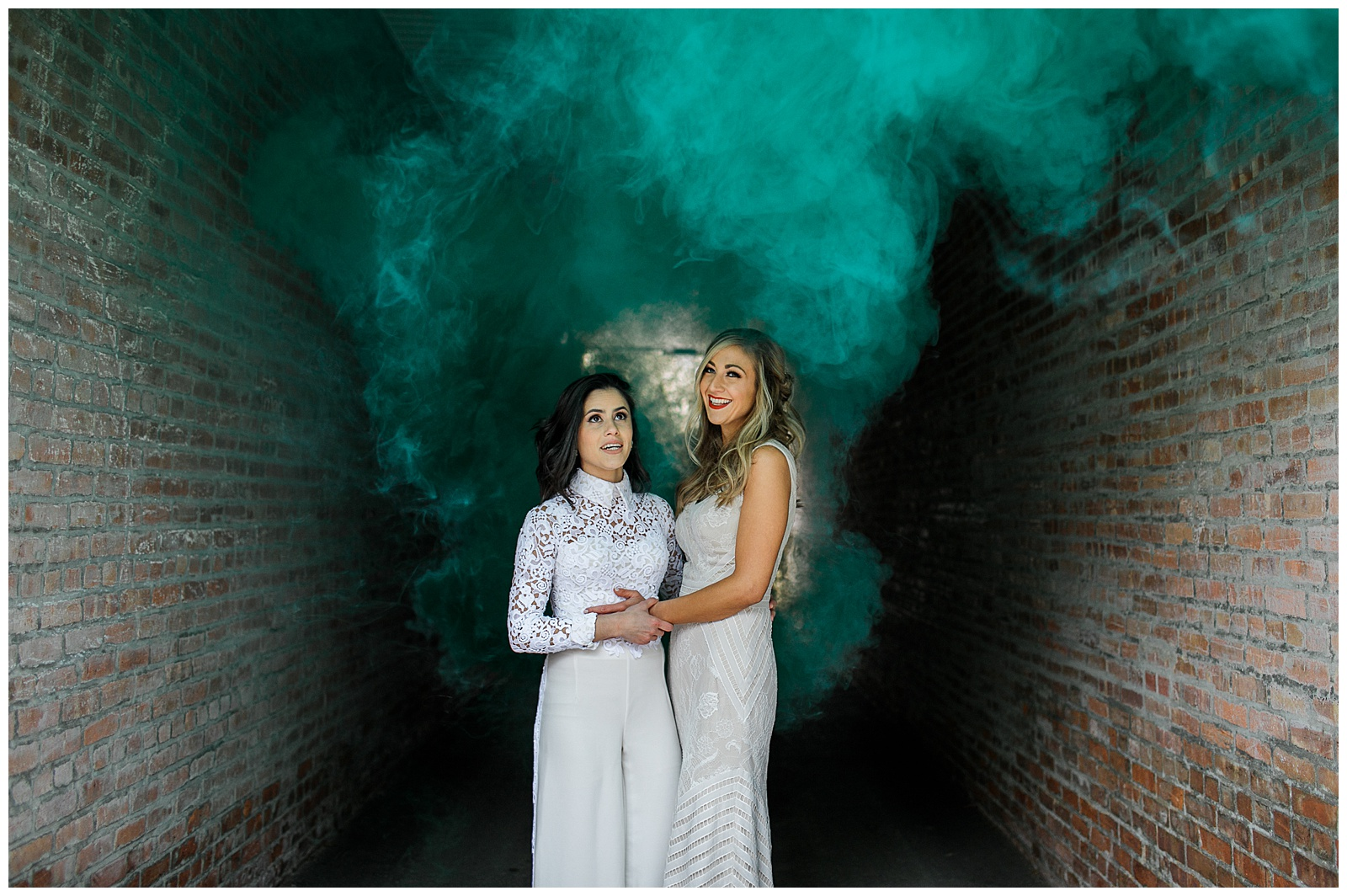 Colored Smoke Bomb Wedding Photography