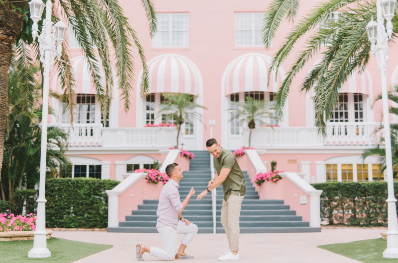 Image for This Proposal at the Colorful Don CeSar Hotel Will Make Your Heart Leap Out of Your Chest