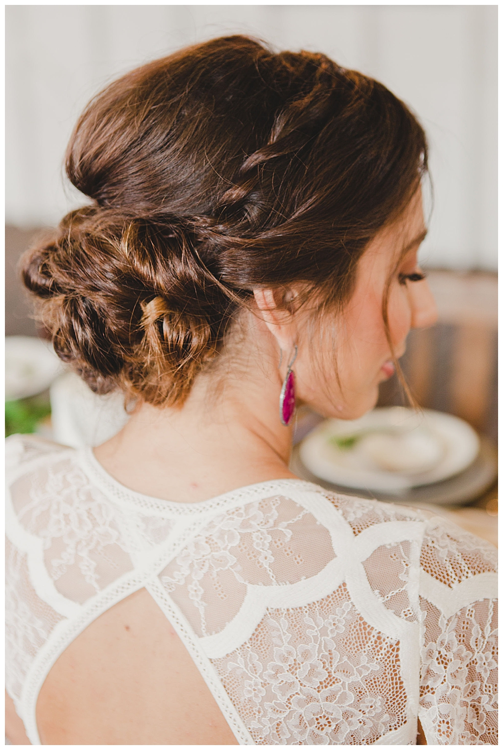 bridal-updo-with-messy-low-bun-and-braid