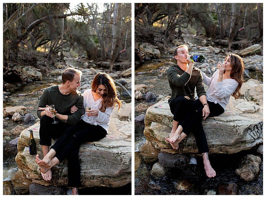 champagne-drinking-engagement-photos