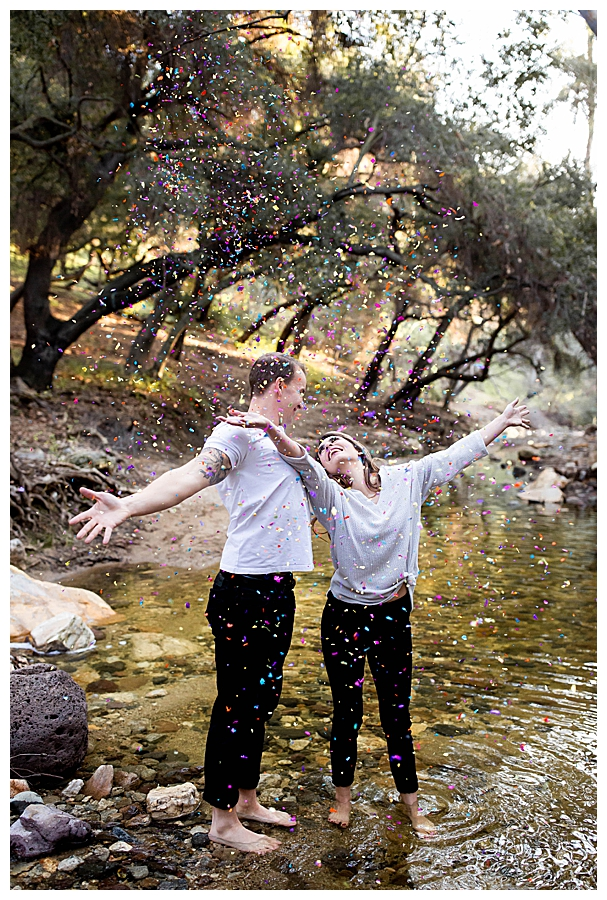 confetti-in-engagement-photos