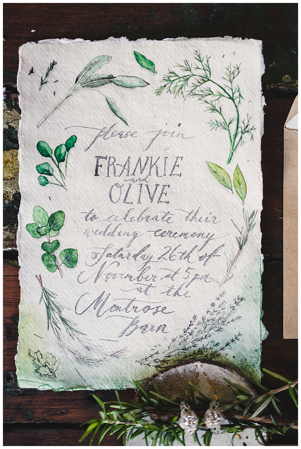 greenery-wedding-invitation