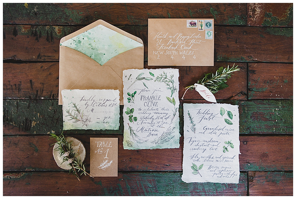 organic-raw-edged-calligraphy-wedding-stationery