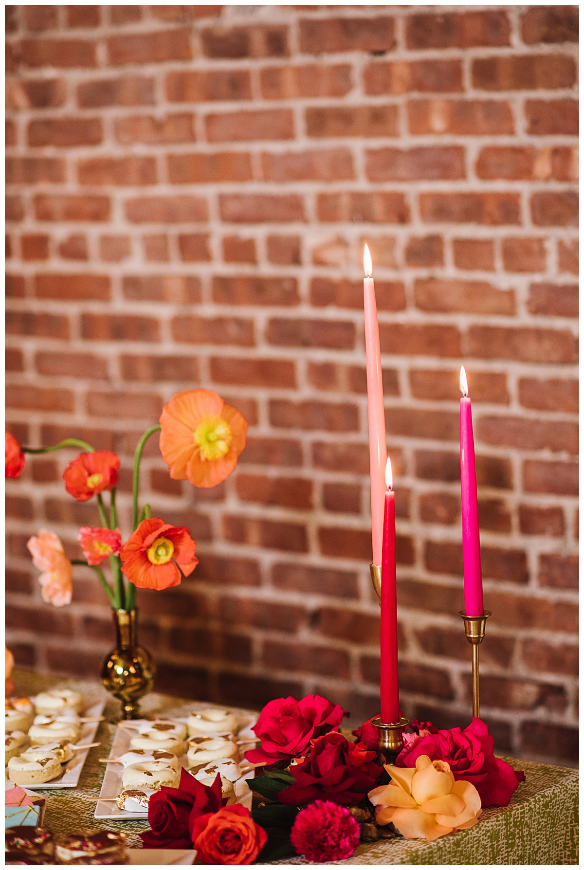 pink-taper-candles-wedding-decor