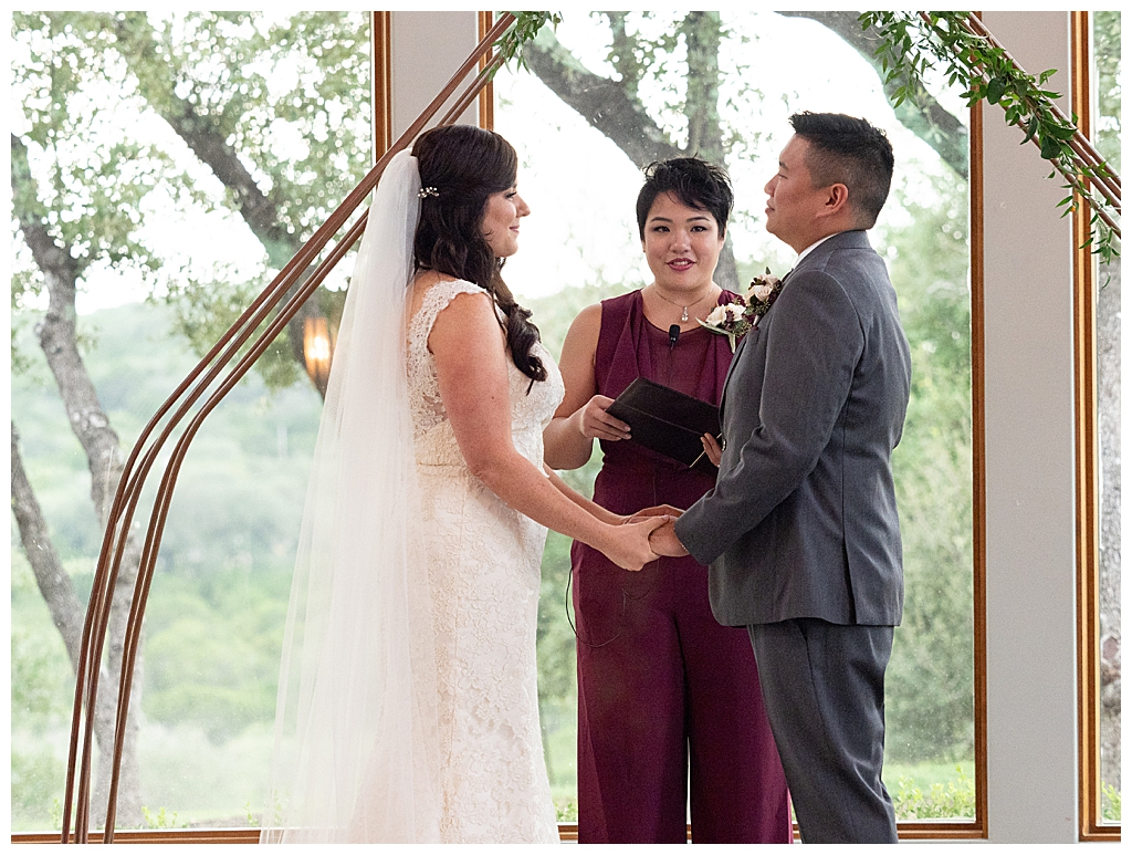 Wedding Ceremony at Canyonwood Ridge Texas