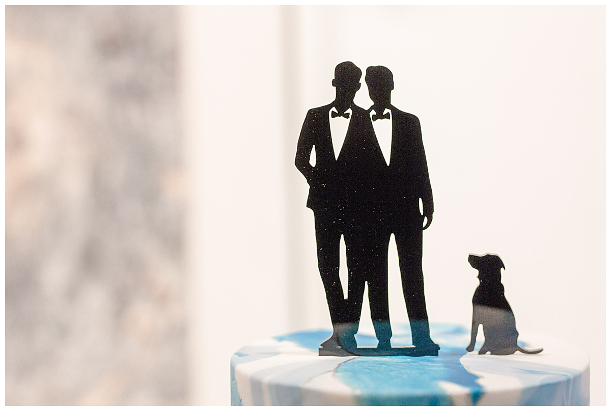 gay-groom-cake-topper-with-dog