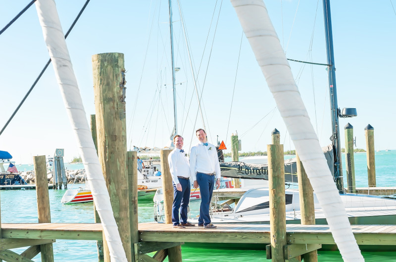 Image for This Preppy Nautical Wedding in Key West Is Summer Gold