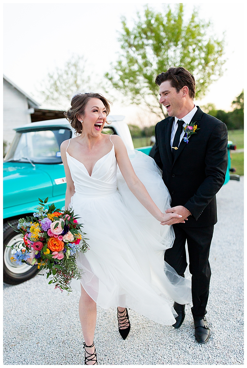 teal-vintage-pickup-truck-wedding-transportation