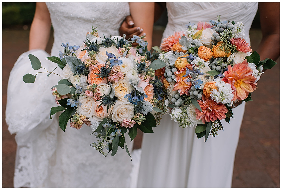 two-brides-bouquets