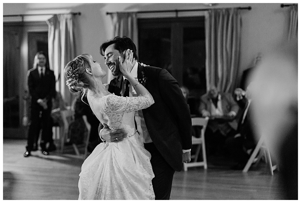 black-and-white-first-dance-photo