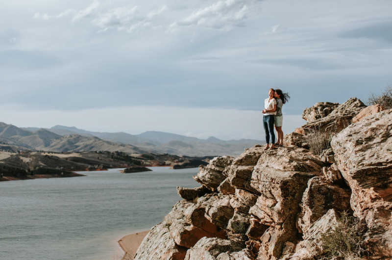 Image for This Windy Colorado Engagement Sesh Takes Our Breath Away