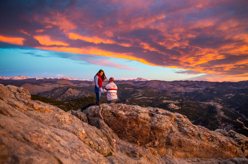 Image for Colorado Sunrise Mountaintop Proposal