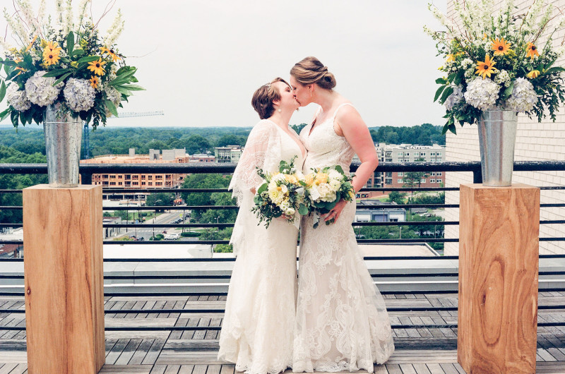Image for A Rooftop Hotel Wedding in Durham North Carolina