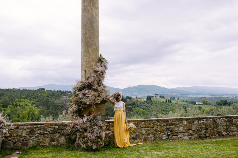 Image for Dreamy Tuscany Wedding Inspiration with a Yellow Wedding Dress