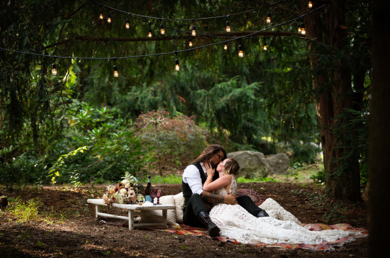 Image for This Forest Wedding Styled Shoot Had a Real-Life Proposal!