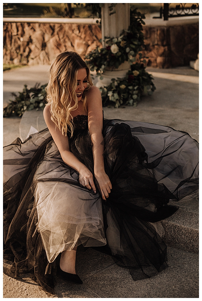 black-wedding-dress-styled-shoot