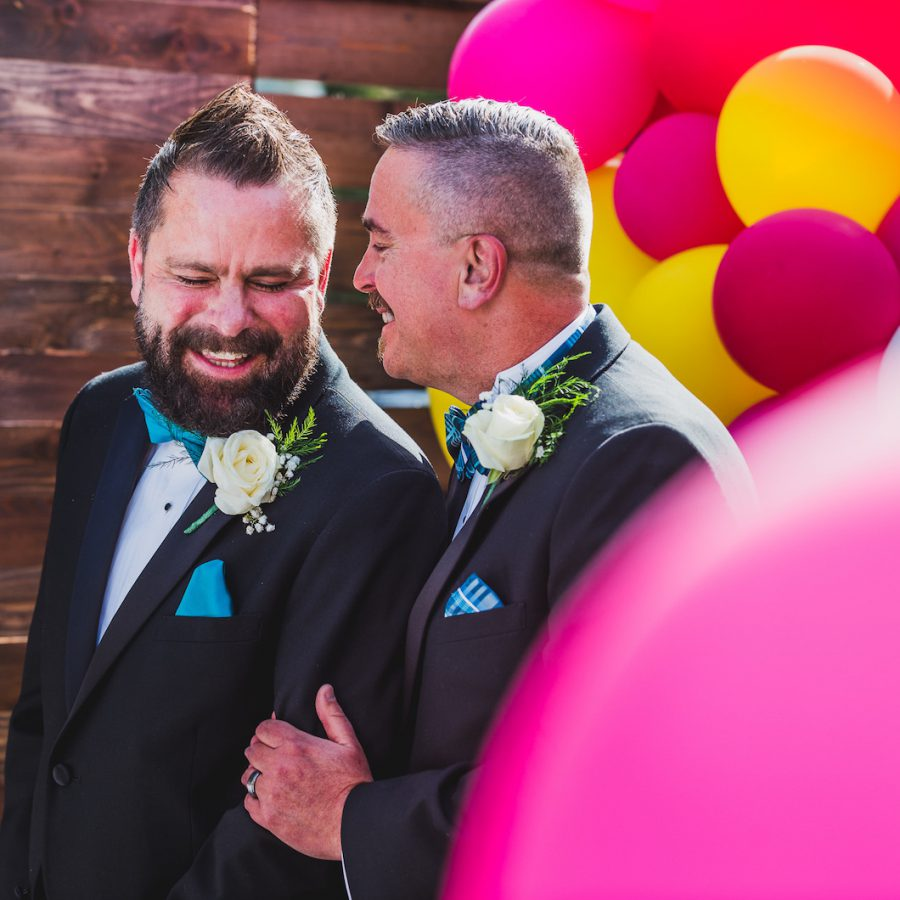 Gay Wedding With Lots of Color