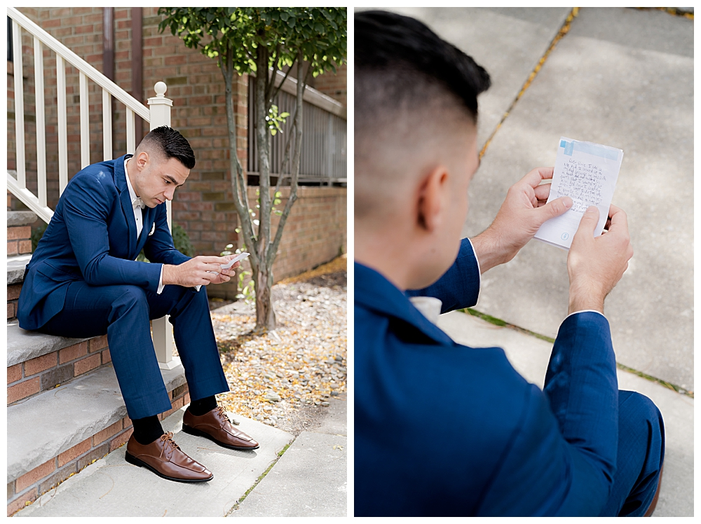 groom-reading-note-from-bride