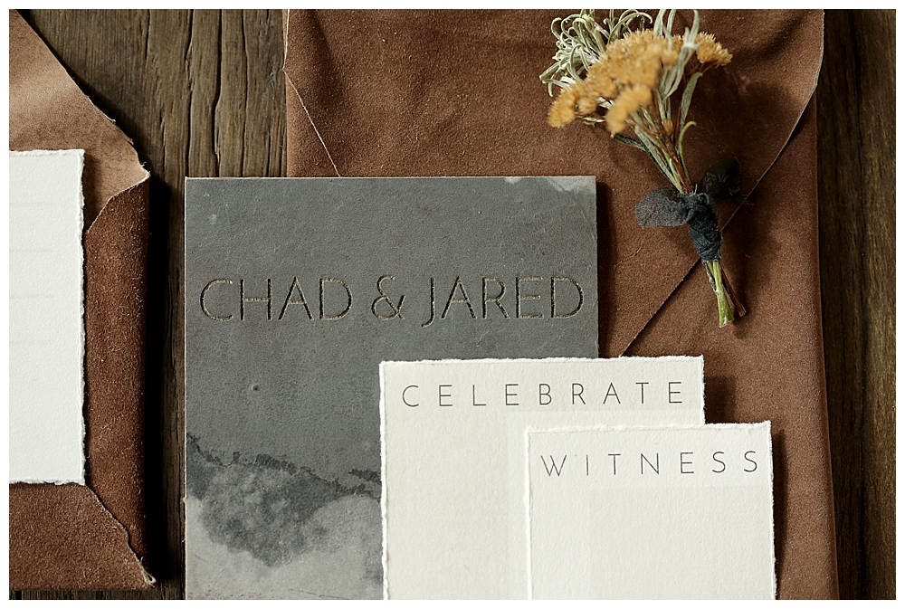 leather-wedding-invitations